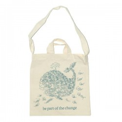 "Bolsa de algodón orgánico para la compra ""Be Part of the change"""