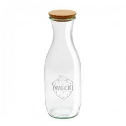 Botella de vidrio WECK 1l. con tapón de corcho