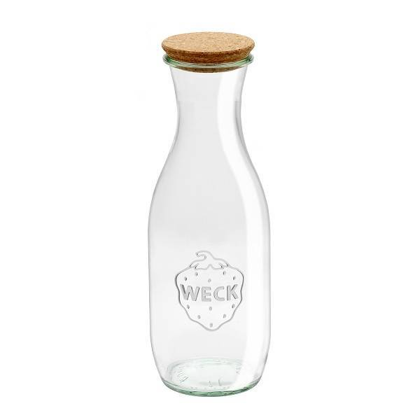 Glass bottle WECK 1L. with Cork Lid