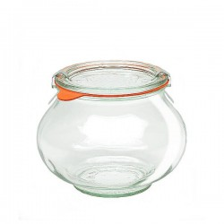 "Glass Airtight Canning  Jar ""DECO"" 1,062L. with Glass Lid"