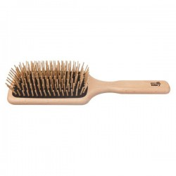 Paddle Hair Brush with Wooden Bristles