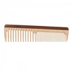 Peigne en bois aux dents larges et normales 19cm.