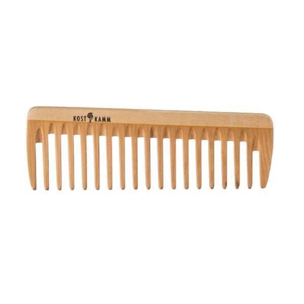 Peigne en bois aux dents larges 14cm.
