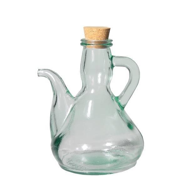 Huilier en verre recyclé 0,25L.