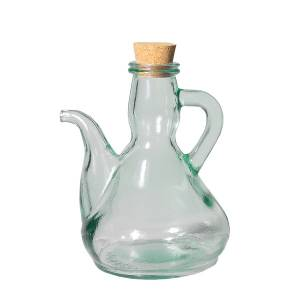 Aceitera de vidrio reciclado 0,25 L.