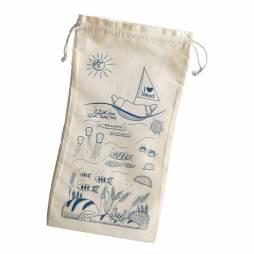 """Organic Cotton Bread Bag """"I love bread"""""""
