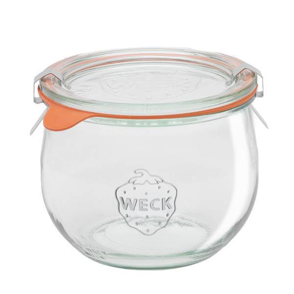 "Glass Airtight Canning  Jar ""TULIP"" 0,58L."