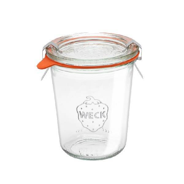 Glass round canning jar airtight tall 0,29l.