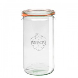 "Glass Airtight Canning  Jar ""Cylindrical"" 1.5L."