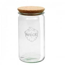 """Pot en verre rond hermétique """"Cylindrical"""" 1,5L. avec couvercle en liège"""
