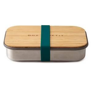 """Fiambrera rectangular de acero inoxidable y bambú """"Ocean"""""""