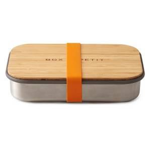 boite repas en inox et bambou orange black blum. Black Bedroom Furniture Sets. Home Design Ideas