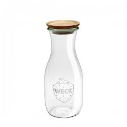 Botella de vidrio 0,5l. con tapón de madera