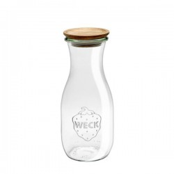 Glass bottle 0,5L. with Wood Lid