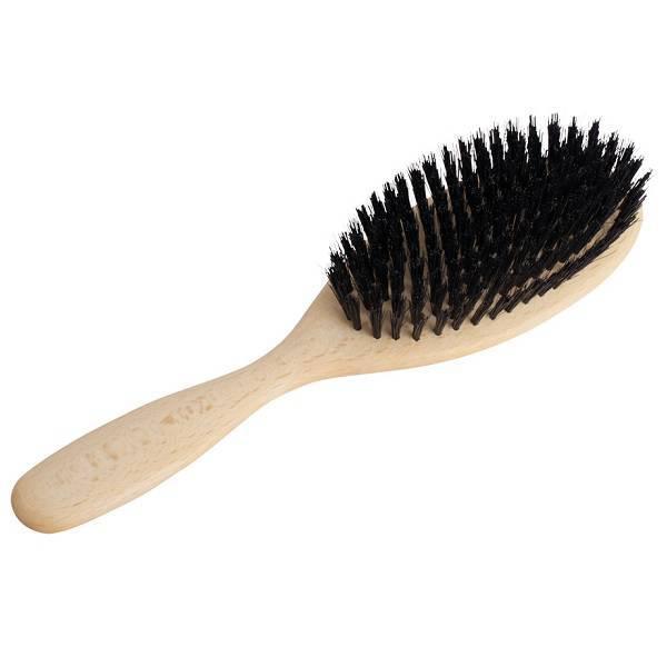 Cepillo ovalado de madera REDECKER para pelo largo y sedoso
