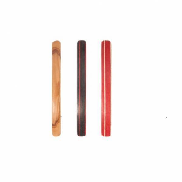 Barette en bois cheveux fins 8 cm colorée.