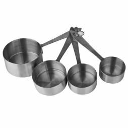 Cazos medidores de acero inoxidable