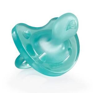 Chupete 0+ meses Chicco silicona azul