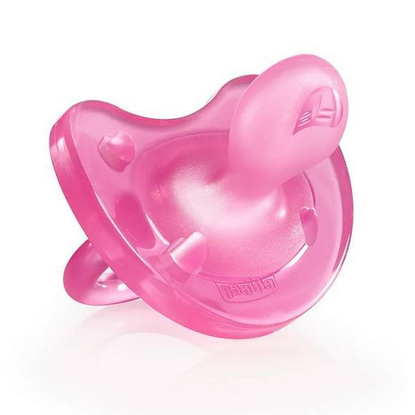 Chicco PhysioSoft Pink Silicone Dummy 0+ months