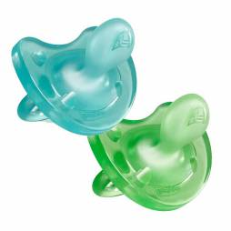 Chupetes de silicona 6-12 meses Chicco Pack Duo (azul y verde)