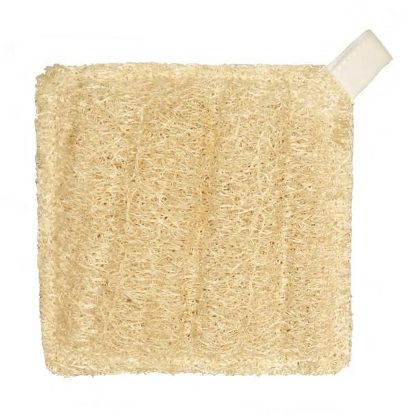 Esponja de luffa natural cuadrada