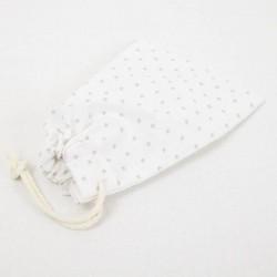 Bolsita de tela estampada con cordón 15x10 cm.