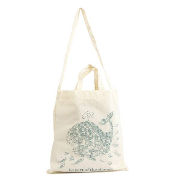 "Organic Cotton Shopping Bag ""Be Part of the change"""