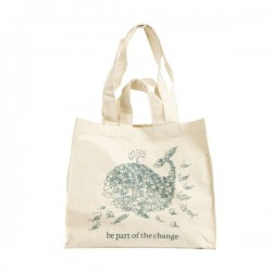 "Grand sac de courses en coton bio ""Be part of the change"""