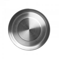 Assiette en acier inoxydable