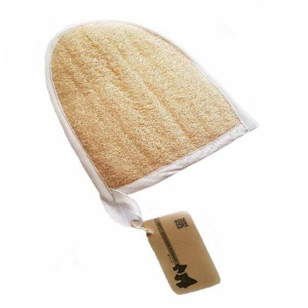 Natural Loofah & Cotton Body Scrubber Mitt
