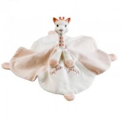 Coutchou'doux doudou et anneau de dentition Sophie la Girafe en caoutchouc naturel et coton bio