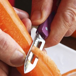 Stainless steel and wood Peeler