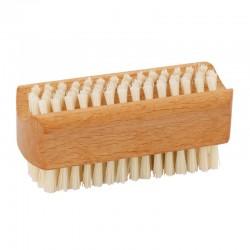 Brosse à ongles double face en bois de hêtre