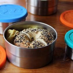 Boîte repas ronde en metal et silicone grand format