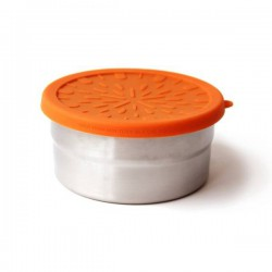 Stainless Steel with Silicone Lid Round Eco Lunch Box