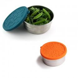 Recipiente redondo hermético de inox y silicona