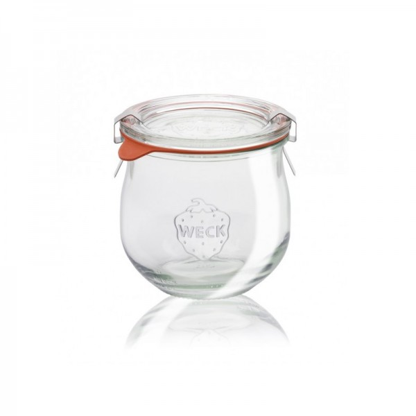 "Glass Airtight Canning Jar ""TULIP"" 370 mL."