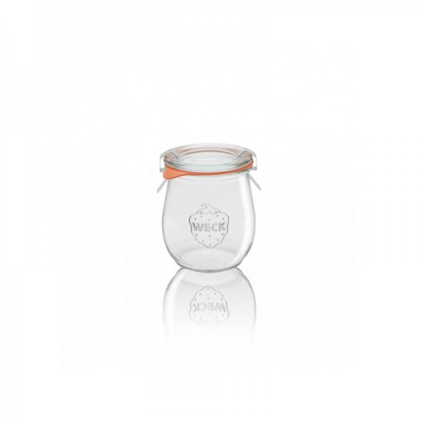 "Glass Airtight Canning Jar ""TULIP"" 220 ml."