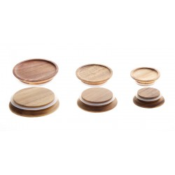 Wood lid for weck jars