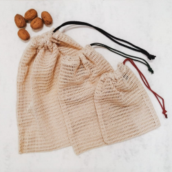 Mesh Reusable produce organic cotton bag
