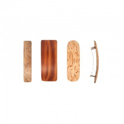Wooden hair slide for fine hair 7 cm.
