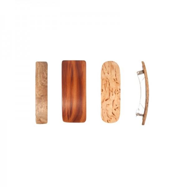 Barette en bois pour cheveux fins 7 cm.