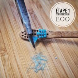 "Cepillo de dientes infantil de bambú ""Boo"", Suave"
