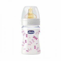 Chicco glass baby bottle, 150 ml.