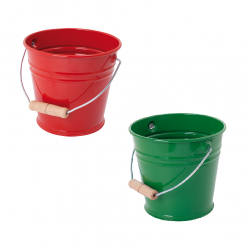 Childrens Metal Beach Bucket