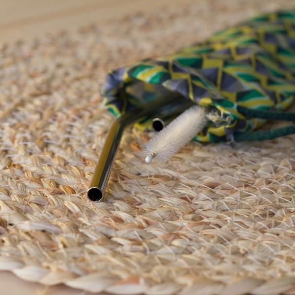 Pattern Organic Cotton Drawstring Case Bag 25x7 cm.