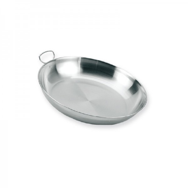 Stainless steel plate with handle