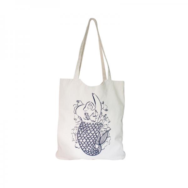 "Organic cotton handbag ""Mermaid"""