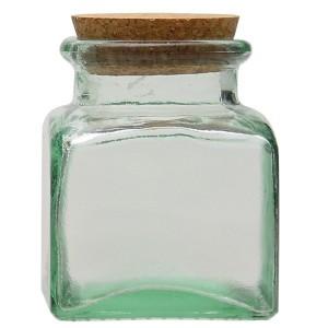 Tarro de vidrio reciclado cuadrado V. SAN MIGUEL 0,25l.