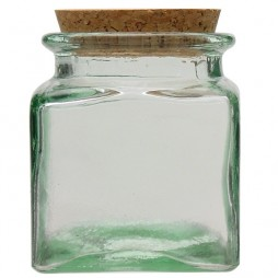 Recycled glass square canning jar V. SAN MIGUEL 0,5l.
